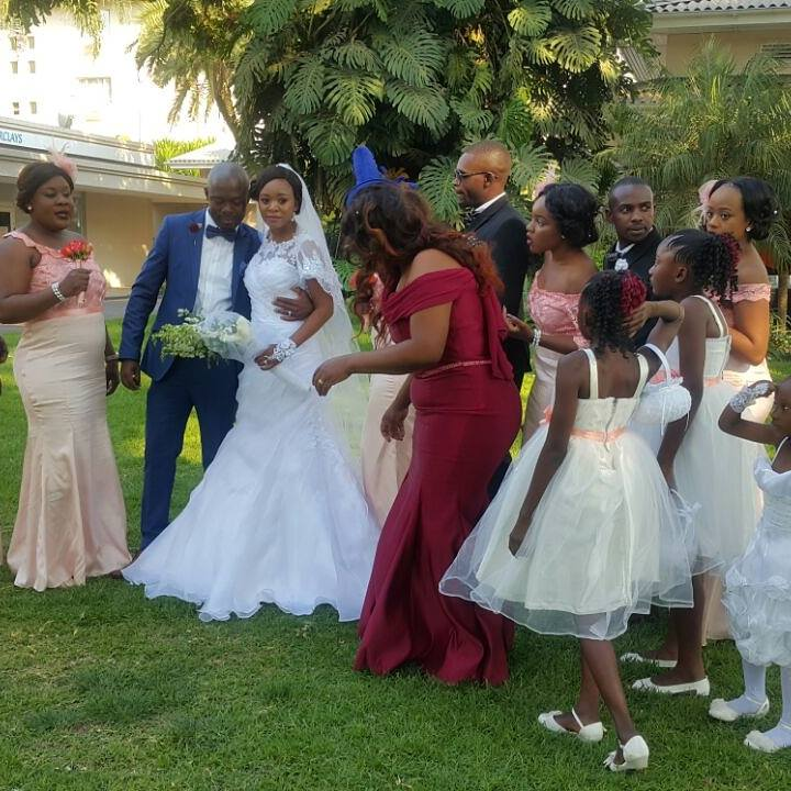 youngzee and rachel showcasing their zambia wedding